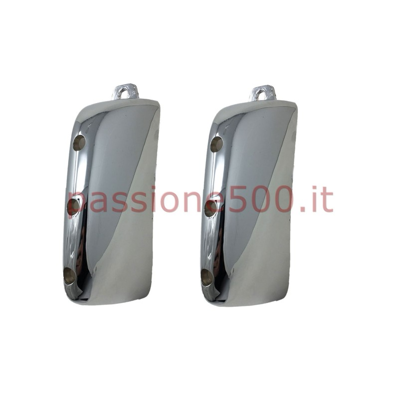 PAIR OF CHROMED HORN FOR REAR BUMPER AUTOBIANCHI BIANCHINA PANORAMICA