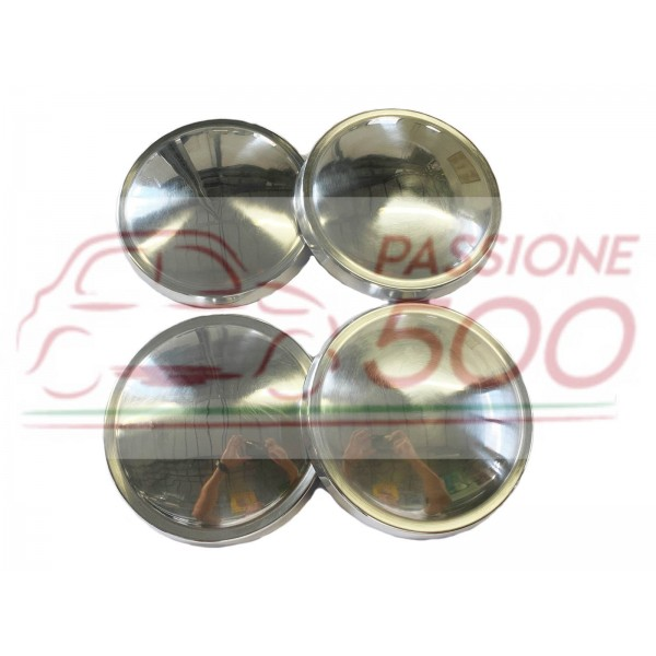 SET OF 4 ALUMINIUM WHEEL CAP AUTOBIANCHI BIANCHINA PANORAMICA