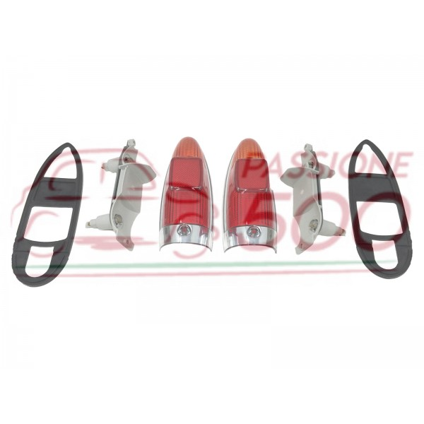 PAIR OF COMPLETE REAR TAIL LAMP AUTOBIANCHI BIANCHINA PANORAMICA