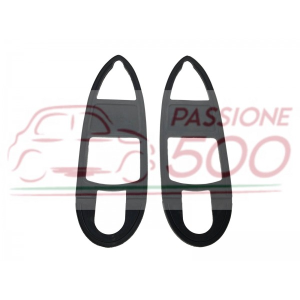 PAIR OF GASKET FOR REAR TAIL LAMP AUTOBIANCHI BIANCHINA TRASFORMABILE II° serie BERLINA CABRIO PANORAMICA