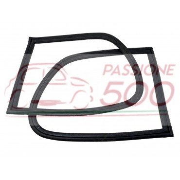 PAIR OF GASKET FOR REAR SIDE GLASS (RH+LH) AUTOBIANCHI BIANCHINA BERLINA