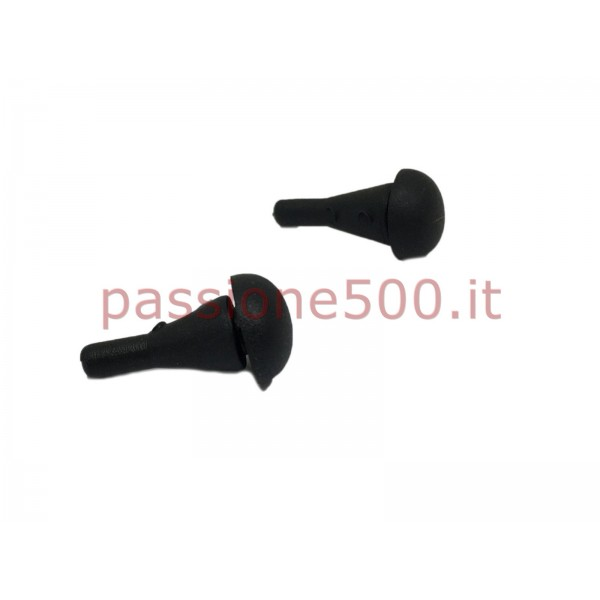 KIT OF 2 BUMPERS PIN FOR FRONT BONNET FIAT 500