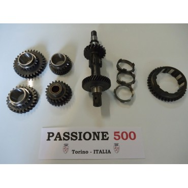 SYNCHRONIZED TRANSMISSION GEARS COMPLETE KIT  FIAT 500 R - 126