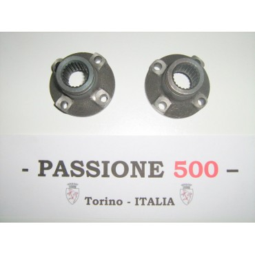 COUPLE OF SLEEVE AXLE SHAFT FIAT 500 F L R - diameter 25 mm - CHEAPER TYPE