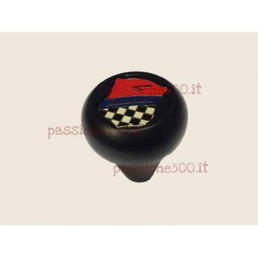 BLACK ALUMINIUM GEAR SHIFT KNOB WITH GIANNINI LOGO - FIAT 500