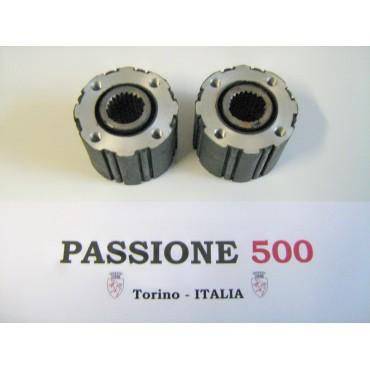 COUPLE OF FLEXIBLE JOINT OF AXLE SHAFT FIAT 500 N D - 20 SPLINES