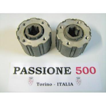 COUPLE OF FLEXIBLE JOINT OF AXLE SHAFT FIAT 500 N D - 6 SPLINES