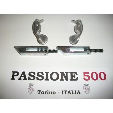 TOP COVER RETAINING ALUMINIUM HANDLES SET FIAT 500 N
