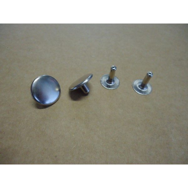 COUPLE OF CHROME RIVET FOR FOLDING TOP COVER MIDDLE ROD FIAT 500 N D F