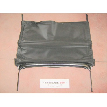 BLACK FOLDING TOP COVER WITH BLACK CHASSIS FIAT 500 F L R