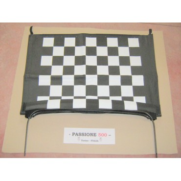 FOLDING TOP COVER AT CHESSBOARD BLACK AND WHITE WITH CHASSIS FIAT 500 F L R