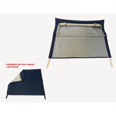 BLUE FOLDING TOP COVER WITH CHASSIS FIAT 500 N D
