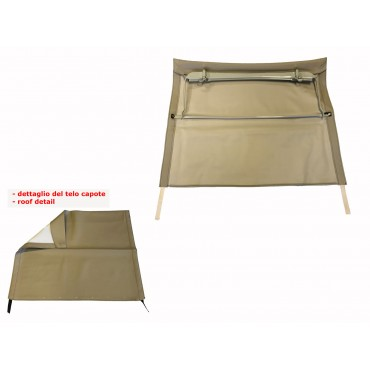 LIGHT BROWN FOLDING TOP COVER WITH CHASSIS FIAT 500 N D