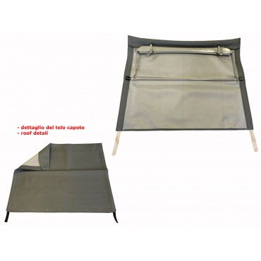 GREY FOLDING TOP COVER WITH CHASSIS FIAT 500 N D