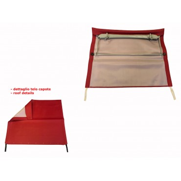 RED FOLDING TOP COVER WITH CHASSIS FIAT 500 N D