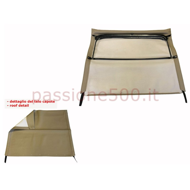LIGHT BROWN FOLDING TOP COVER WITH CHASSIS FIAT 500 F L R