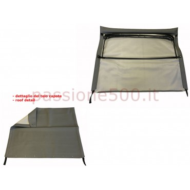 GREY FOLDING TOP COVER WITH CHASSIS FIAT 500 F L R