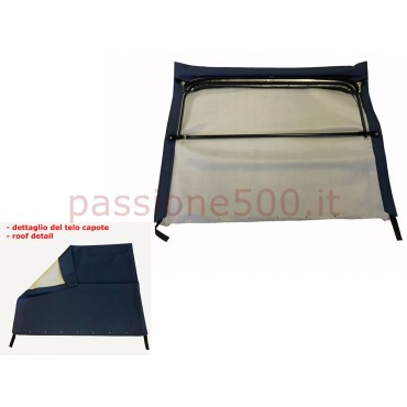 BLUE FOLDING TOP COVER WITH CHASSIS FIAT 500 F L R