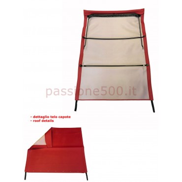 RED FOLDING TOP COVER WITH CHASSIS FIAT 500 GIARDINIERA