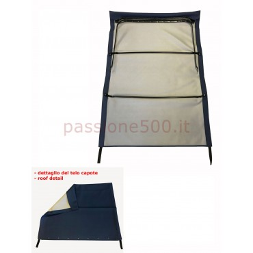 BLUE FOLDING TOP COVER WITH CHASSIS FIAT 500 GIARDINIERA