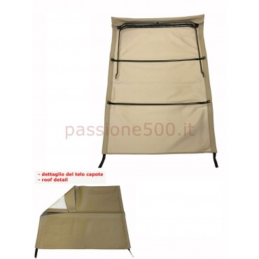 LIGHT BROWN FOLDING TOP COVER WITH CHASSIS FIAT 500 GIARDINIERA