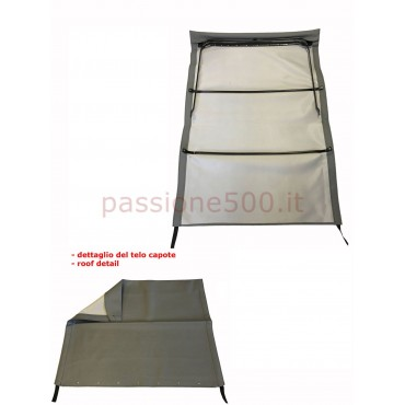 GREY FOLDING TOP COVER WITH CHASSIS FIAT 500 GIARDINIERA
