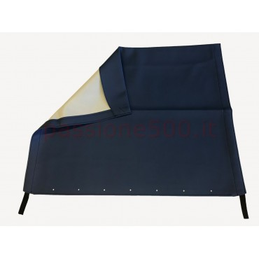 BLUE FOLDING TOP COVER FIAT 500 F L R