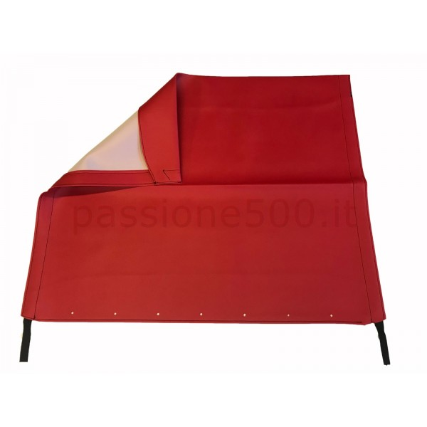 RED FOLDING TOP COVER FIAT 500 F L R