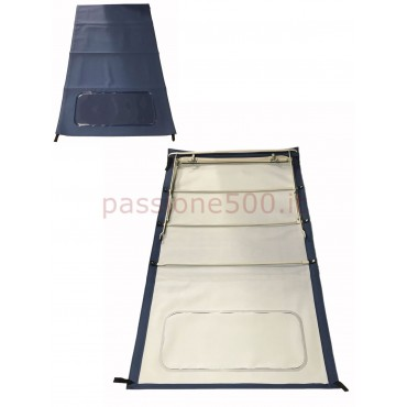 BLUE FOLDING LONG TOP COVER WITH CHASSIS FIAT 500 N D
