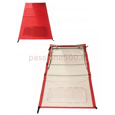 RED FOLDING LONG TOP COVER WITH CHASSIS FIAT 500 N D