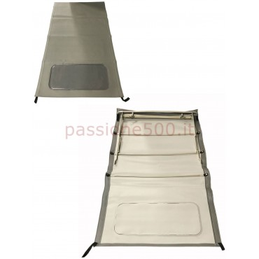 GREY FOLDING LONG TOP COVER WITH CHASSIS FIAT 500 N D