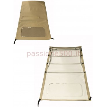 LIGHT BROWN FOLDING LONG TOP COVER WITH CHASSIS FIAT 500 N D