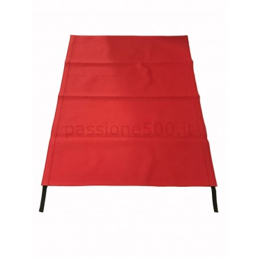 RED FOLDING TOP COVER FIAT 500 GIARDINIERA