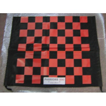 BLACK AND RED CHESSBOARD FOLDING TOP COVER FIAT 500 F L R