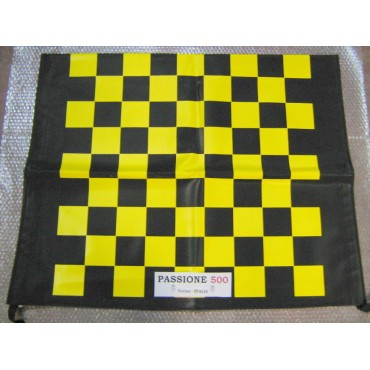 BLACK AND YELLOW CHESSBOARD FOLDING TOP COVER FIAT 500 F L R