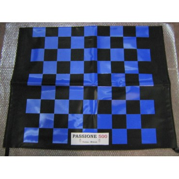 BLACK AND BLUE CHESSBOARD FOLDING TOP COVER FIAT 500 F L R