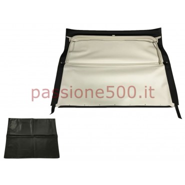 BLACK FOLDING TOP COVER WITH GREY CHASSIS FIAT 500 F until may 1970