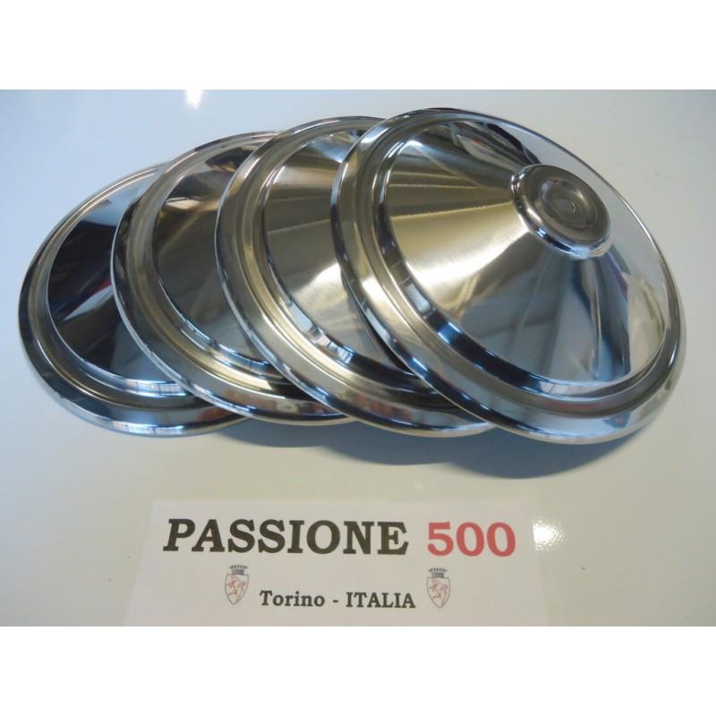 KIT OF 4 INOX STEEL WHEEL CAP FIAT 500 L