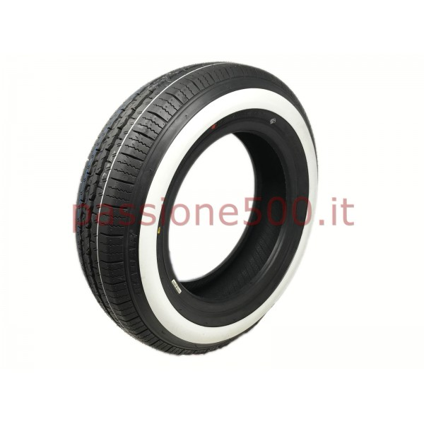 WHITE STRIPE TIRE 125 R12 FIAT 500