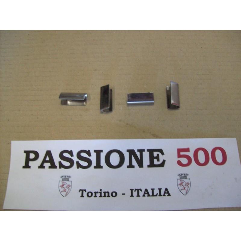 KIT OF 4 WINDOW TRIM END CLIPS FIAT 500