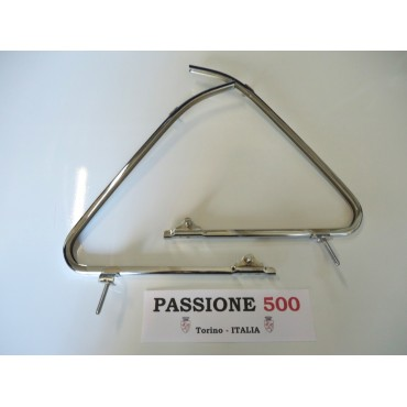 COUPLE OF CHROMED VENT WINDOW FRAME FIAT 500 N - HIGH QUALITY