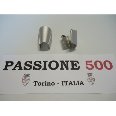 COUPLE OF ALUMINIUM COVERS FOR VENT WINDOW FRAME FIAT 500 N