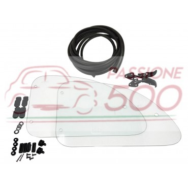 """SET OF REAR GLASS """"COMPASS OPENING"""" FIAT 500 N D F L R"""
