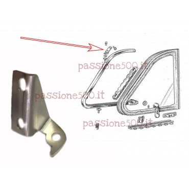 LEFT DOOR BRACKET FOR QUARTER VENT WINDOW FRAME FIXING FIAT 500 N