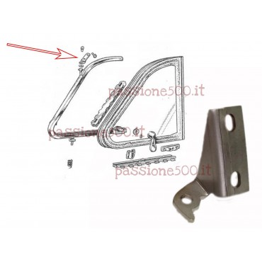 RIGHT DOOR BRACKET FOR QUARTER VENT WINDOW FRAME FIXING FIAT 500 N