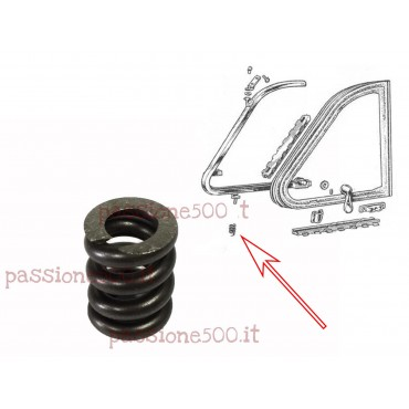 QUARTER VENT WINDOW FRAME SPRING FIAT 500 N