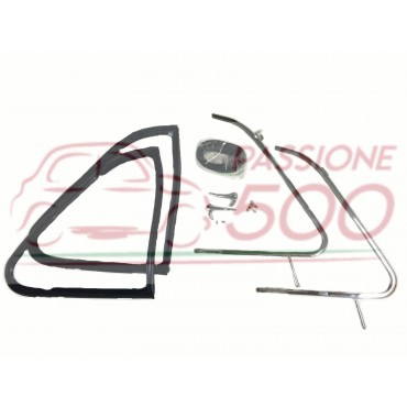 COMPLETE KIT OF CHROMED VENT WINDOW FRAME HIGH QUALITY FIAT 500