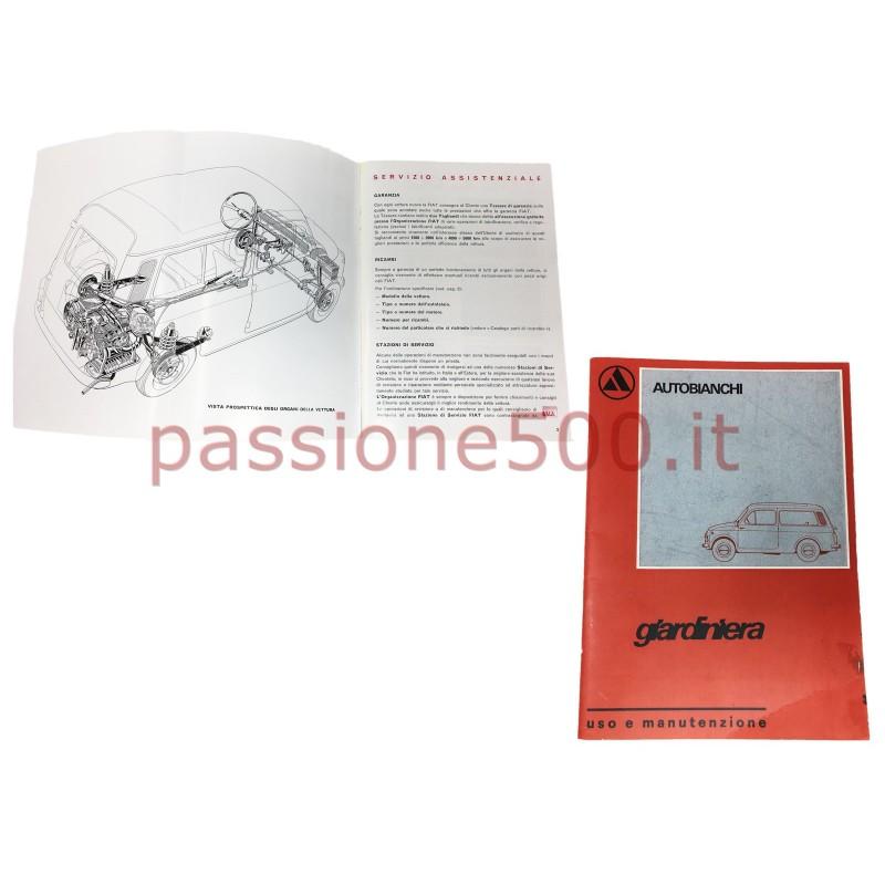 OWNER'S MANUAL AUTOBIANCHI 500 GIARDINIERA (copy)