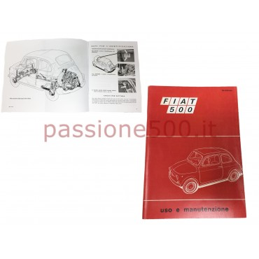 OWNER'S MANUAL FIAT 500 F until 1968 (copy)