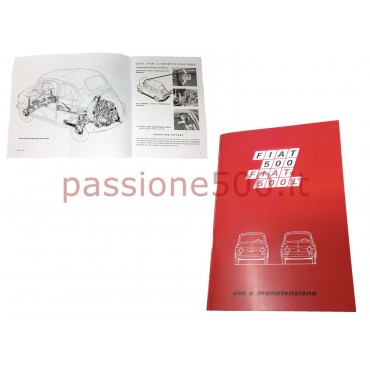OWNER'S MANUAL FIAT 500 F L until 1971 (copy)